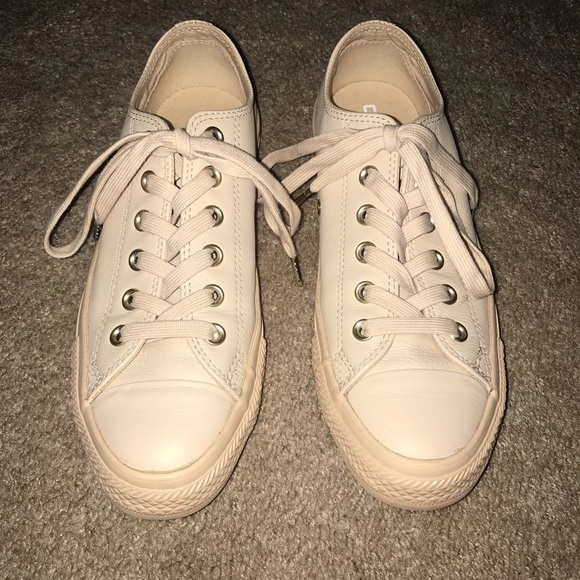 44fabf8fc96d18 Converse Shoes - Nude   tan leather converse